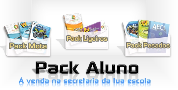 Novos Packs Aluno para todas as categorias